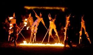 Barebones Halloween Fire Stilters 2004