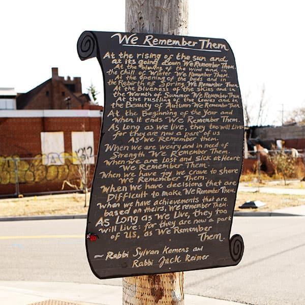 Mina Leierwood_Chalkboards of Remembrance. photo: Paul Irmiter