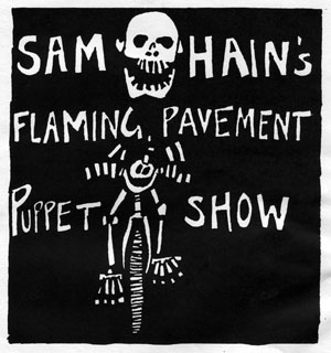 Sam Hains Flaming Pavement Puppet Show poster