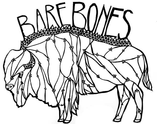 barebones bison shirt