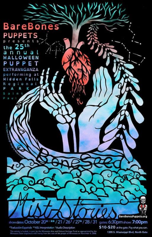 BONESEED poster: 25th Annual BareBones Halloween Extravaganza