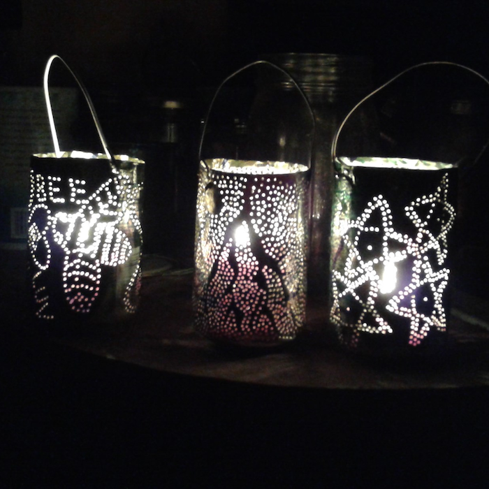 Lanterns made from aluminum cans