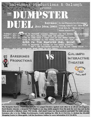 Dumpster Duel 2003 Poster